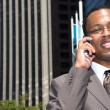 Business man on cell phone — Stock Photo