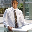African American Architectural Engineer - Stock Photo