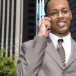 Black businessman on cell phone — Stock Photo #7454766