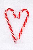 キャンディの杖の心 — ストック写真