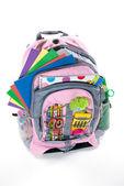 Pink book bag — Stock Photo