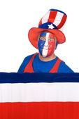 July fourth patriot on white — Stock Photo