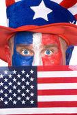 Patriotic man on July Fourth — Stock Photo