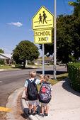 Crosswalk safety — Stock Photo