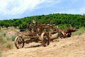 Antiquated farming equipment — Stock Photo