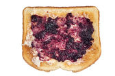Toast with jam and butter — Stock Photo