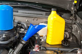 Car maintenance oil change — Stock Photo