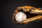 Baseball and glove — Stock Photo