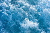 Churning blue ocean water — Stock Photo