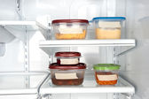 Leftovers in plastic containers — Stock Photo