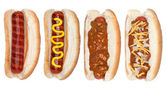 Collection of hotdogs — Stock Photo