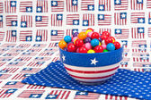July Fourth Gumballs — Stockfoto