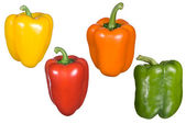 Bell pepper montage — Stock Photo