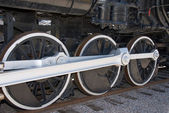Train wheels — Stock Photo