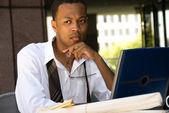 African American Executive Businessman — Stock Photo