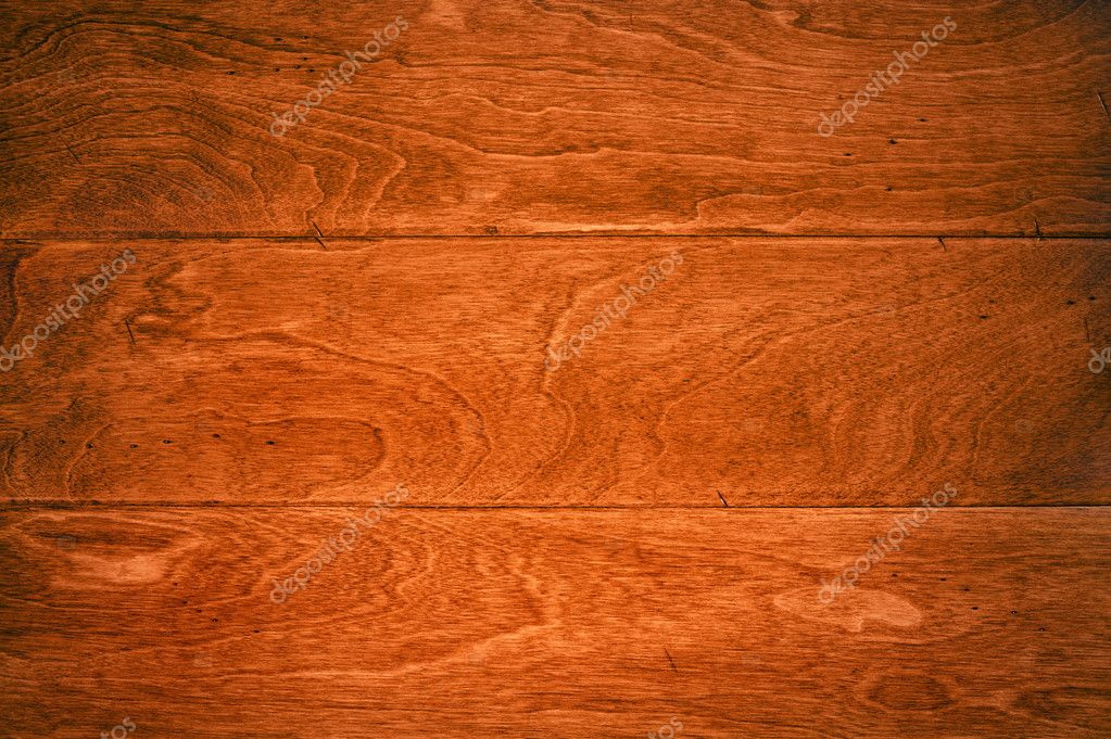 A beautiful deep, rich hardwoor floor with its wood grain details for use as and background or appropriate housing inference.  — Stock Photo #7452892