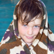 Photo: Boy and swimming pool
