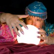 Fortune Teller and Crystal Ball — Stock Photo #7636844
