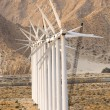 Stock Photo: Row of wind power mills