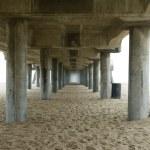 Pier kazıklara — Stok fotoğraf