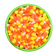 Candy Corn in Bowl - Stock Photo