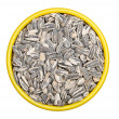 Bowl of sunflower seeds - Stock Photo