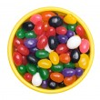 Bowl of jellybeans - Stock Photo