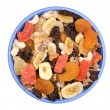 Bowl of trail mix — Stockfoto