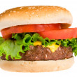 Juicy hamburger - Stock Photo
