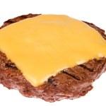 Hamburger patty with cheese — Stock Photo #7636979