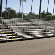 Stock Photo: Empty bleachers during daytime