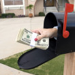 Mailbox and buncle of cash — Stock Photo #7637073