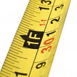 Close up of tape measure scale — Stock Photo #7637090