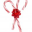 Candy canes with bow — Stock Photo #7637202