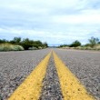 Stock Photo: Deserted road