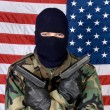 American man with guns — Stockfoto