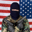 American man with guns - Stockfoto