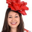Woman as a Christmas Gift — Stock Photo #7637242