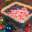 Basket of Candy Canes - Stock Photo