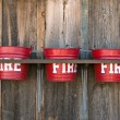 Fire buckets - Stock Photo