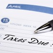 Taxes Due Datebook Reminder — Stock Photo
