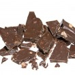 Stock Photo: Chocolate Chunks Isolated on White