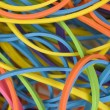 Close up of rubber bands - Stock Photo