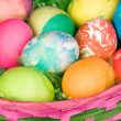Basket of Easter eggs - Foto Stock