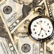 Clock on Cash — Foto de Stock