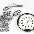 Stock Photo: Pocket watch on white background