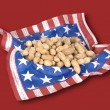 Basket of July fourth peanuts — стоковое фото #7637573