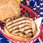 Chicken burger — Stock Photo #7637583