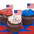 Foto de Stock  : Fourth of July cupcakes