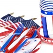 July fourth utensils — Foto de stock #7637592